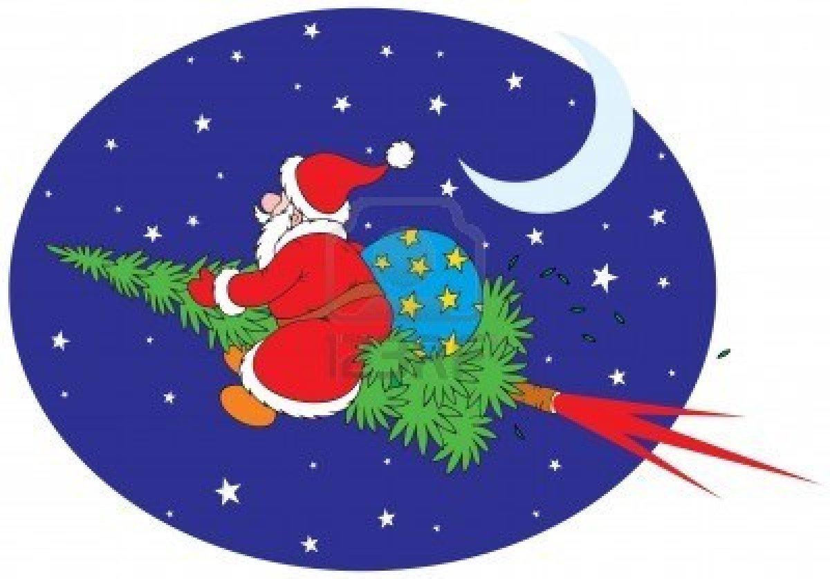 7679430 Le Pere Noel Sur Un Sapin De Noel Presente Asm Pau